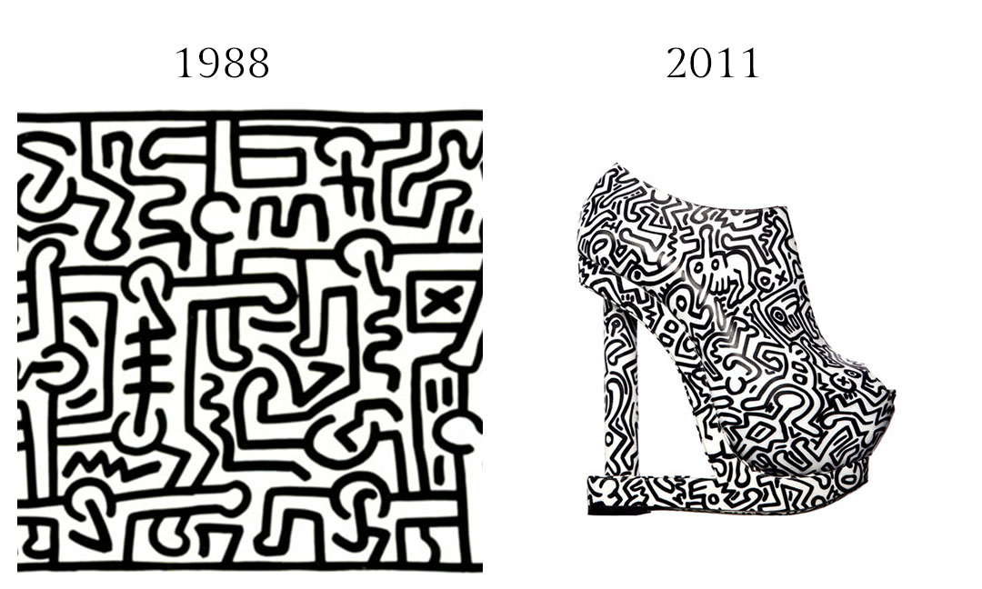 Keith Haring and Nicholas Kirkwood