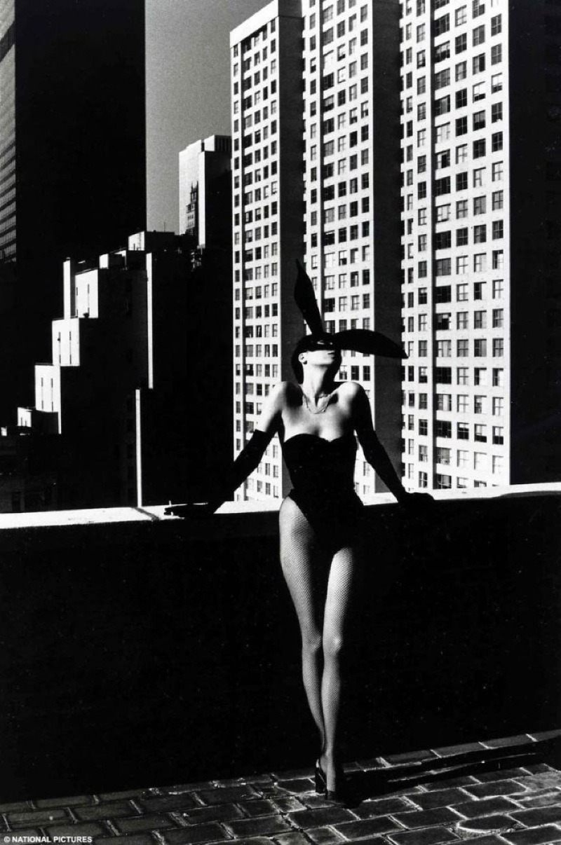 Elsa Peretti in a Halston 'Bunny' costume by Helmut Newton, 1975