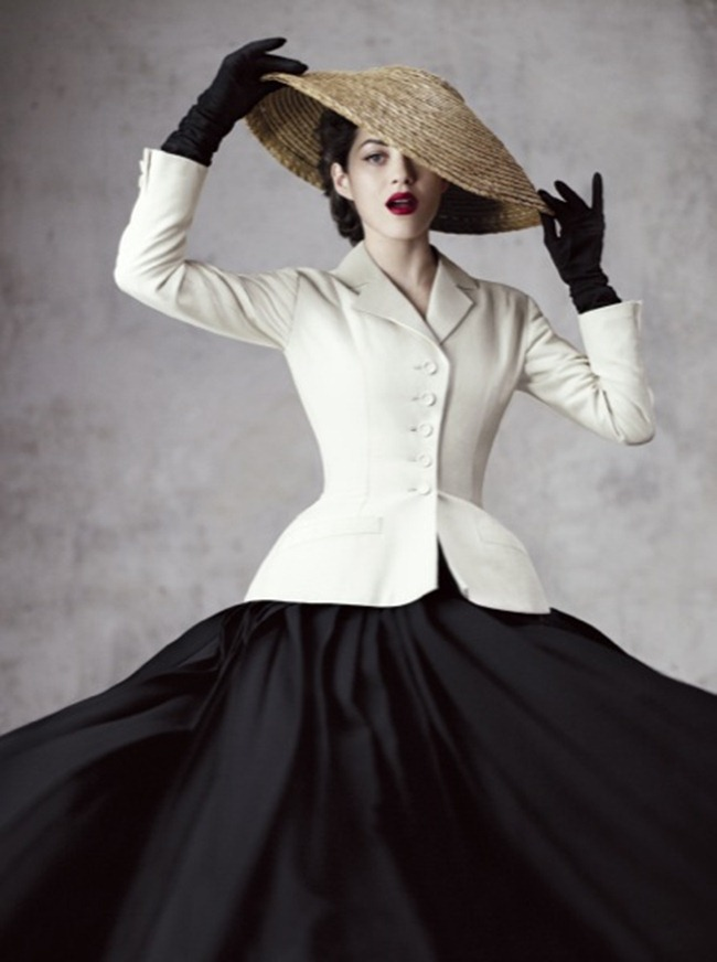 Marion Cotillard in a Dior Bar Suit, photographed by Jean Baptiste Mondino