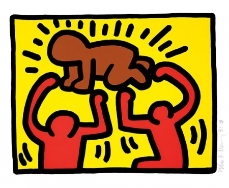 Radiant Child by Keith Haring, c. 1985