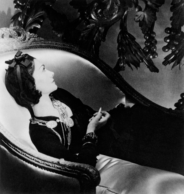Coco Chanel (Reclining) by Horst P. Horst, 1937