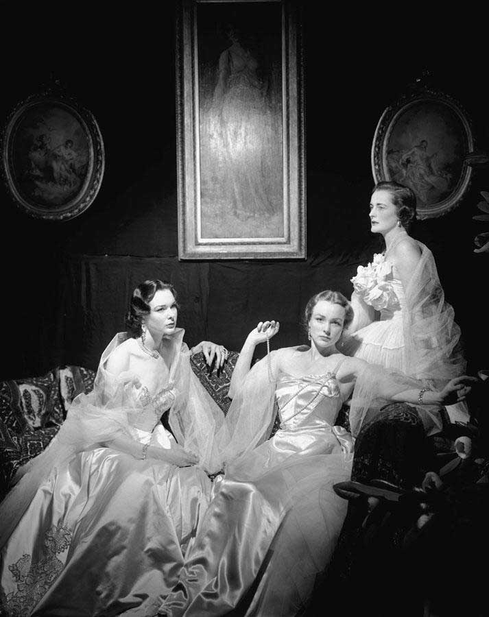 The Wyndham Sisters: Mrs John Wyndham, Lady Cranborne, Lady Roderic Pratt in After John Singer Sargent by Cecil Beaton, 1950