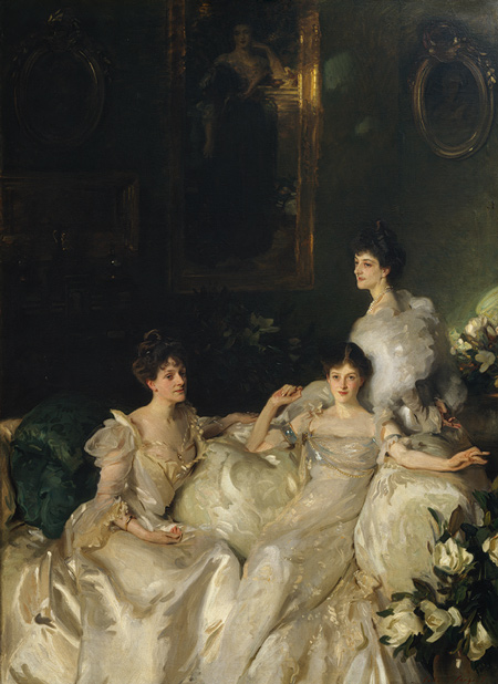 The Wyndham Sisters: Lady Elcho, Mrs. Adeane, and Mrs. Tennant by John Singer Sargent, 1899. Housed at The Met.