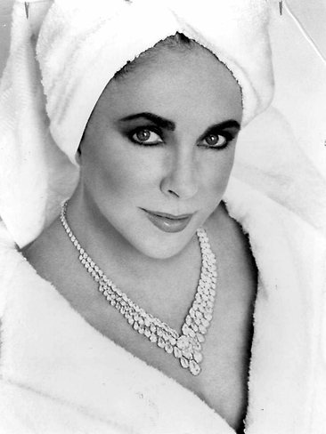 Elizabeth Taylor by Herb Ritts for the White Diamond Fragrance Campaign, 1992