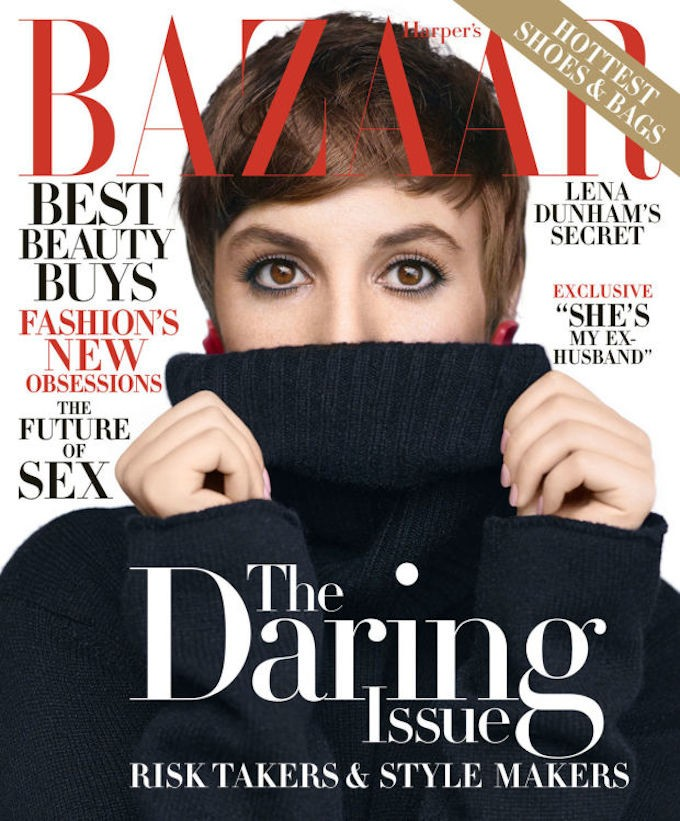 Lena Dunham by Nathaniel Goldberg for Harper's Bazaar, November 2015.